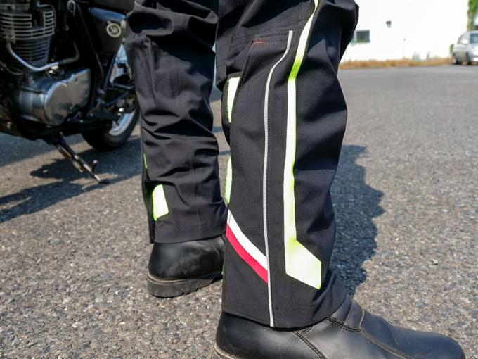 クシタニ K-3025 ストレッチレインスーツ パンツの裾部分
