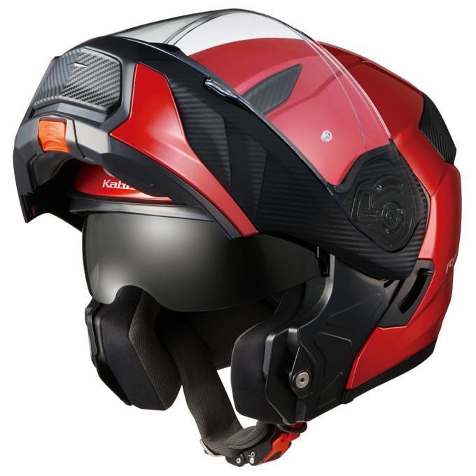 OGKカブト システムヘルメット RYUKI チンガードを上げた状態