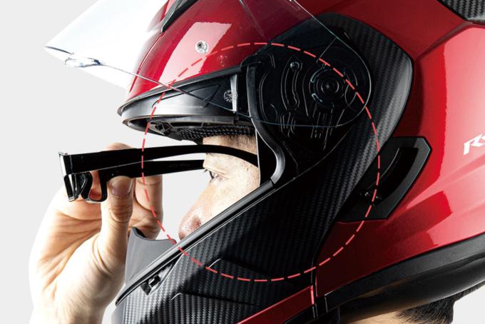 OGKカブト システムヘルメット RYUKI メガネ対応チークパッド