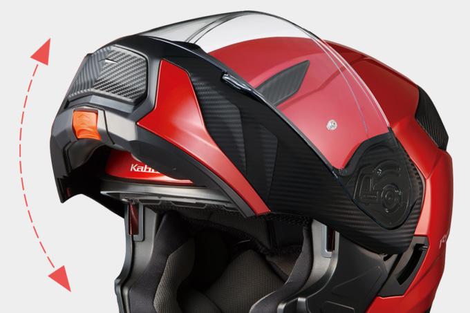 OGKカブト システムヘルメット RYUKI ワンタッチのチンオープンシステム
