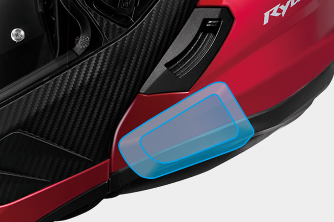 OGKカブト システムヘルメット RYUKI Bluetoothインカム専用取付スペース