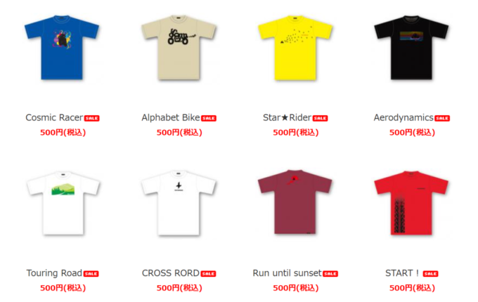 モトマージュ オリジナルバイクTシャツ一覧