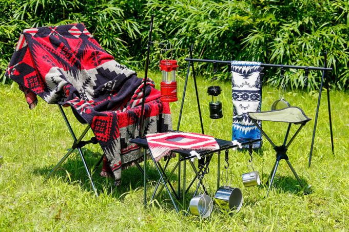 INDIAN OUTDOOR ファン付きLEDランタンをキャンプで使用