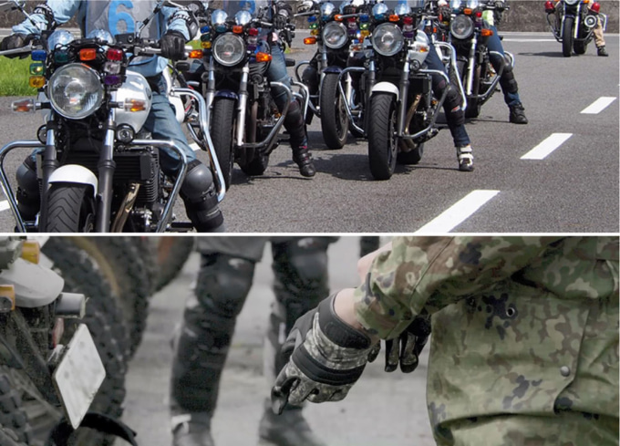教習所・バイク防災訓練活動
