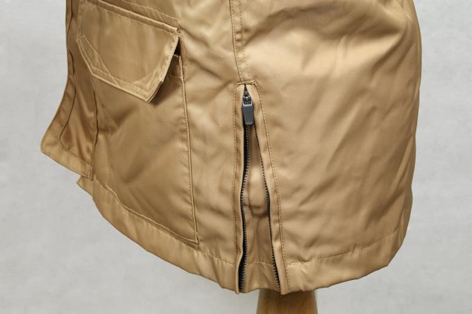 MOTORHEAD RIDERS M-1G ロングジャケット 裾の身幅調整用ファスナー