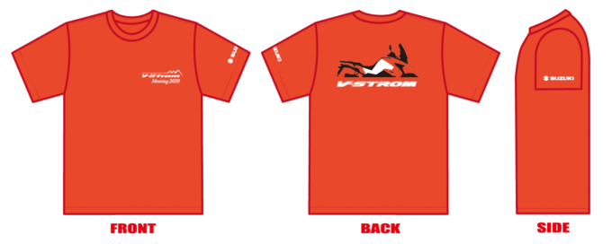 Vストロームミーティング2020 オリジナルTシャツ