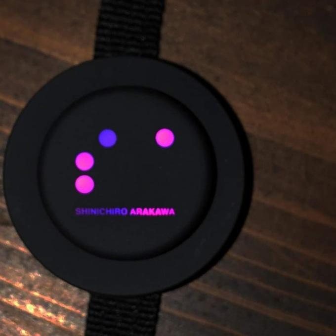 切替スイッチ:温度設定[ON/48°C(LED 紫)]