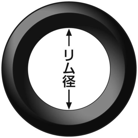 タイヤのリム径を示したイラスト