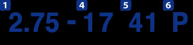 インチ表示のタイヤサイズ表記