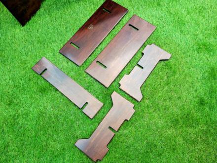 LOGOS アッセムウッド・ソロテーブル 組み立て前の状態