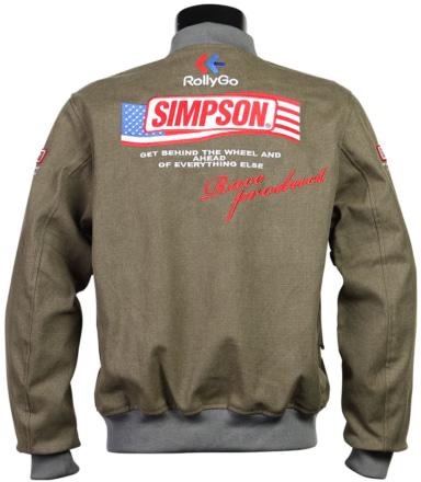シンプソン NSM-2107 ボンバーライダースジャケット 背面