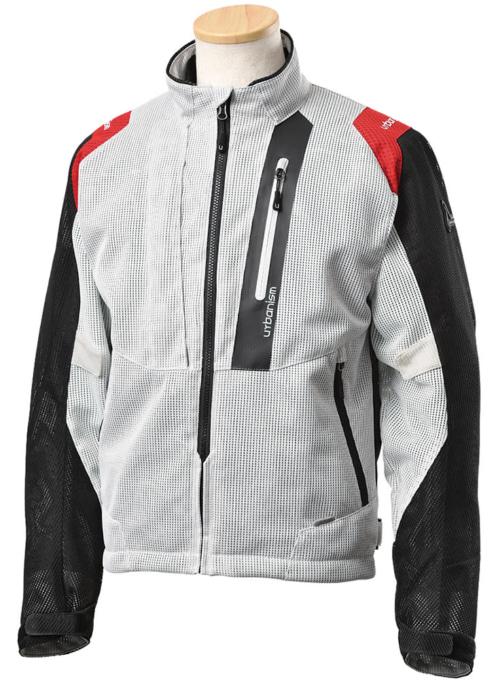 アーバニズム UNJ-089 ライドメッシュジャケット ダスティホワイト