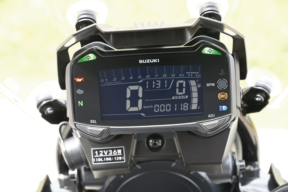 SUZUKI V-Strom250 ABS メーターまわり
