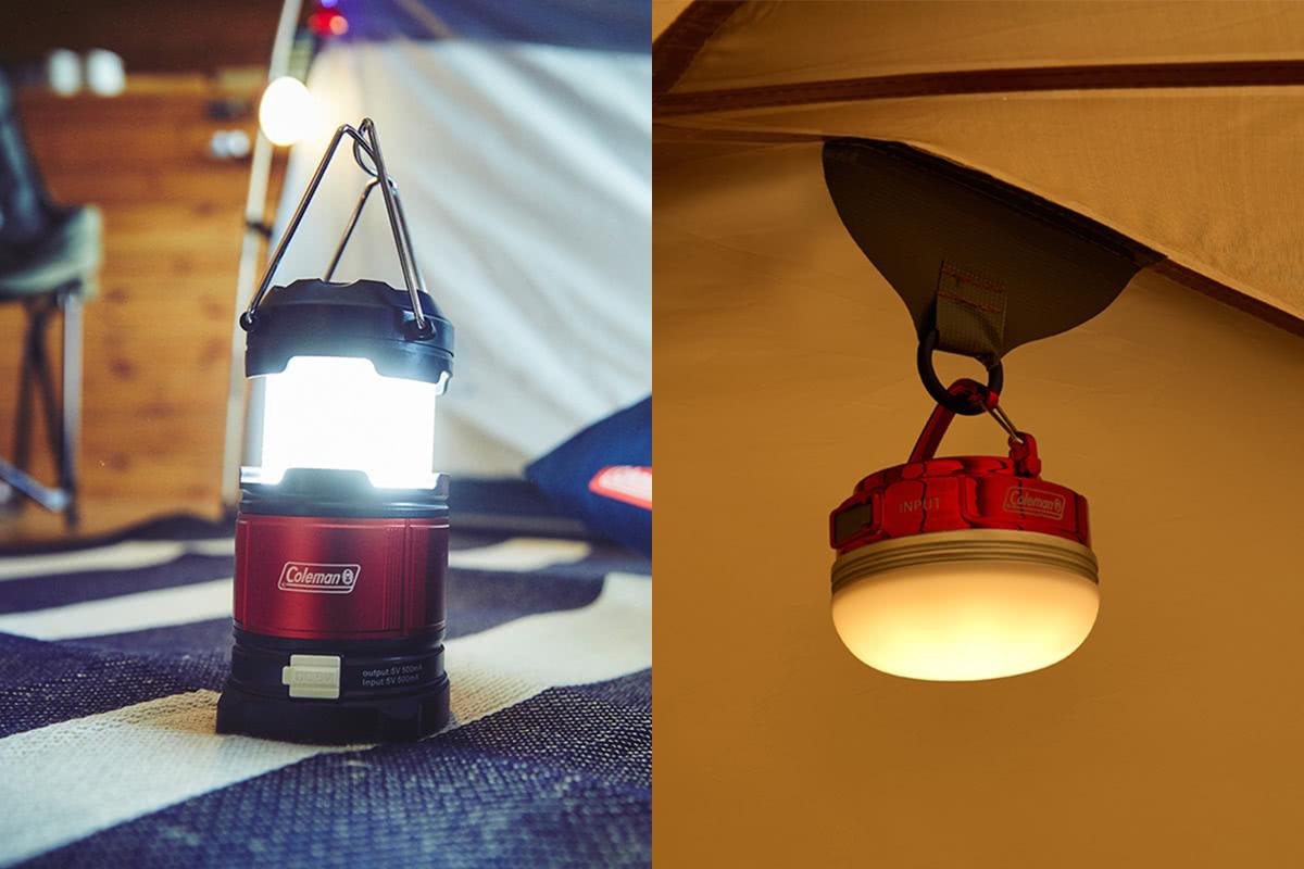 """明るさ、色味も変えられてスマホ充電もできる!Colemanから""""小型ライト""""2種登場!"""