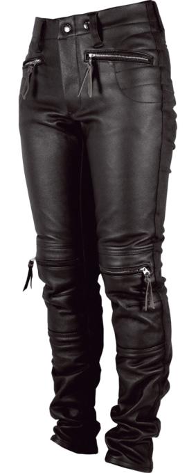 MAXFRITZ FEMME MFP-2352 HEAT-GUARD HALF LEATHER PANTS