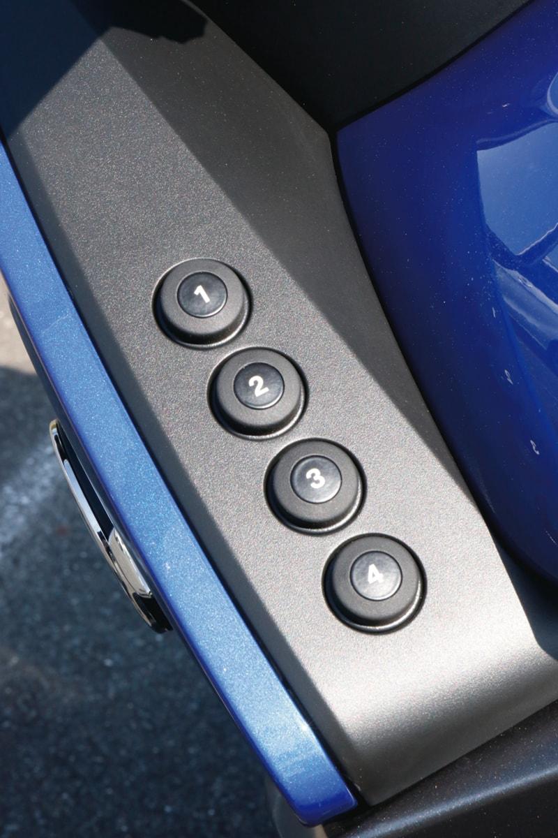 BMW R1250RT サイド 4つのボタン