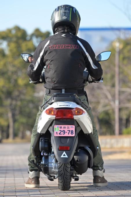 SUZUKI ADDRESS125 足つき